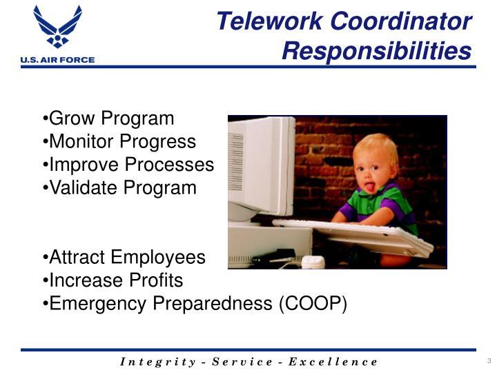 Telework Coordinator Responsibilities