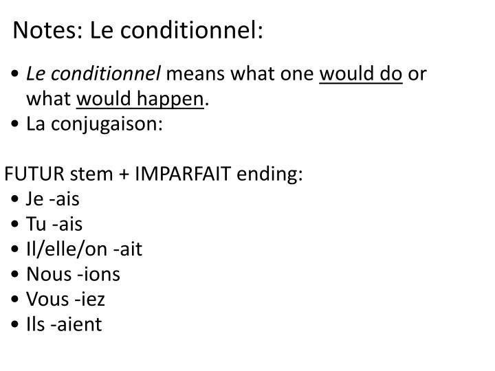 Notes: Le