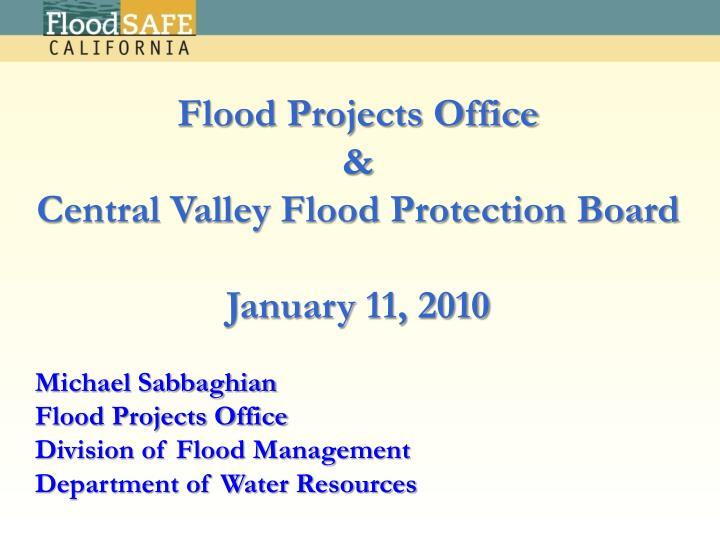 Flood Projects Office