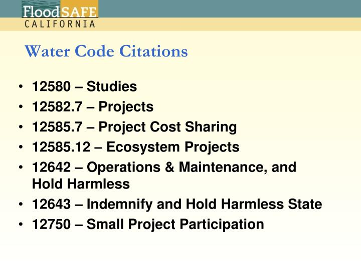 Water Code Citations