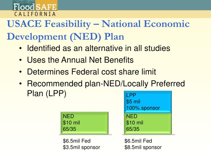 USACE Feasibility – National Economic Development (NED) Plan