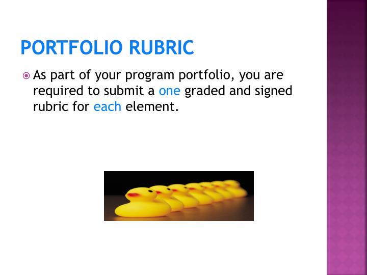 Portfolio Rubric