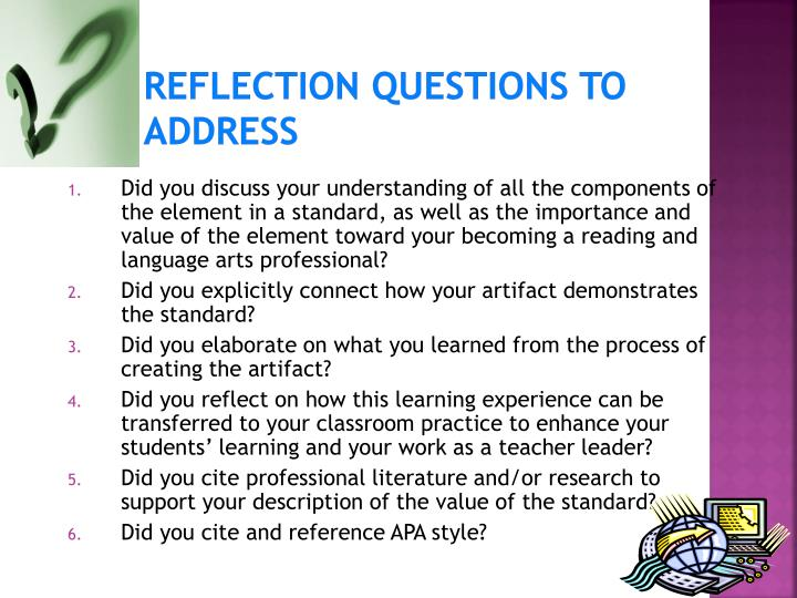 Reflection Questions to Address