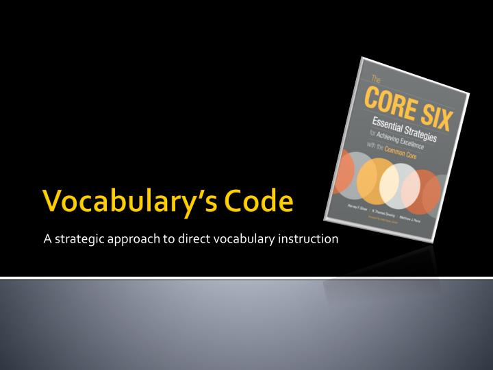 A strategic approach to direct vocabulary instruction