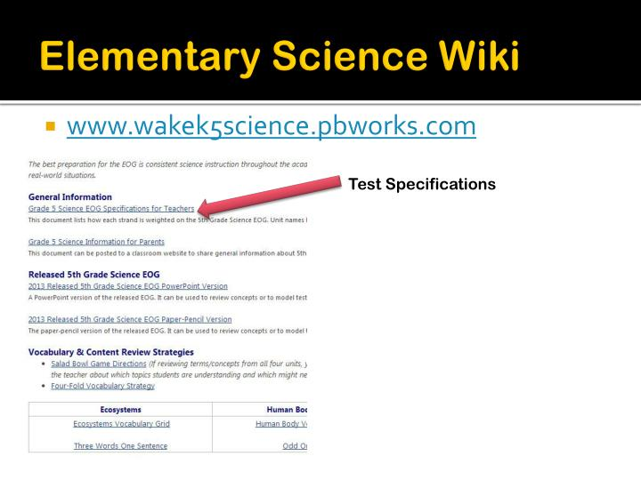 Elementary Science Wiki