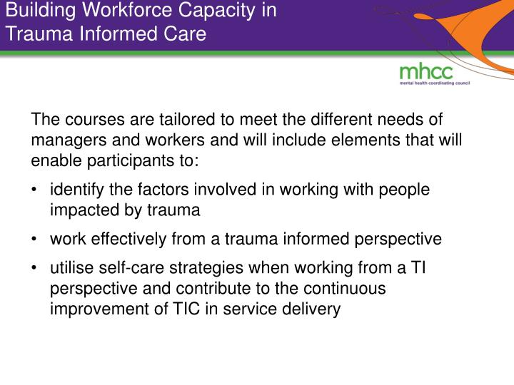 Building Workforce Capacity in