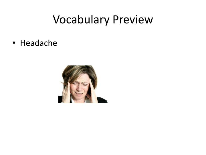Vocabulary preview