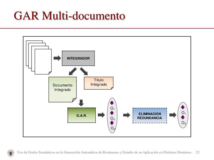 GAR Multi-documento