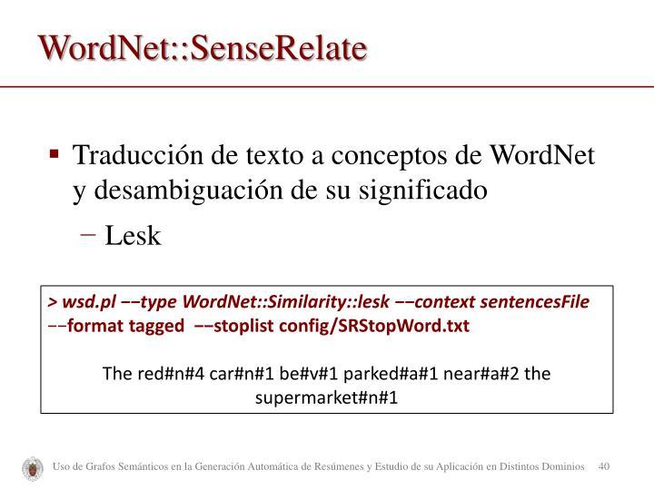 WordNet::Sense