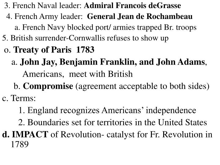 3. French Naval leader:
