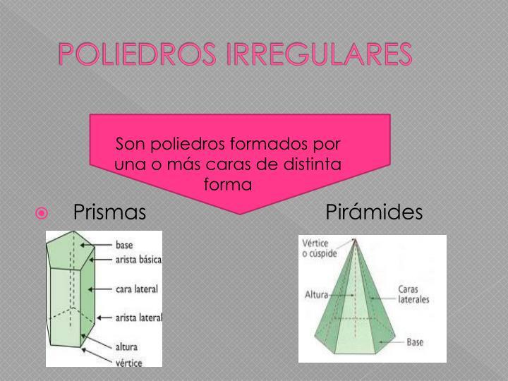 POLIEDROS IRREGULARES