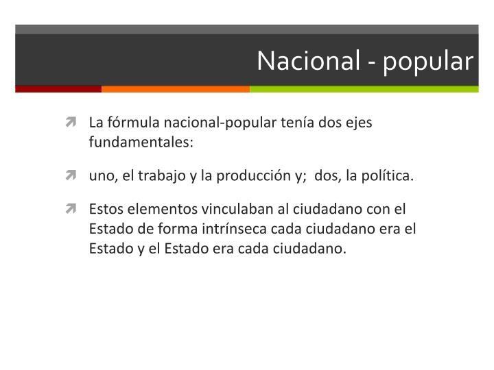 Nacional - popular