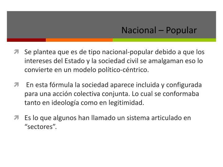Nacional – Popular