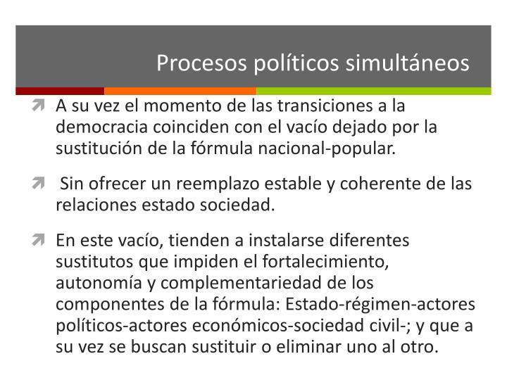 Procesos políticos simultáneos