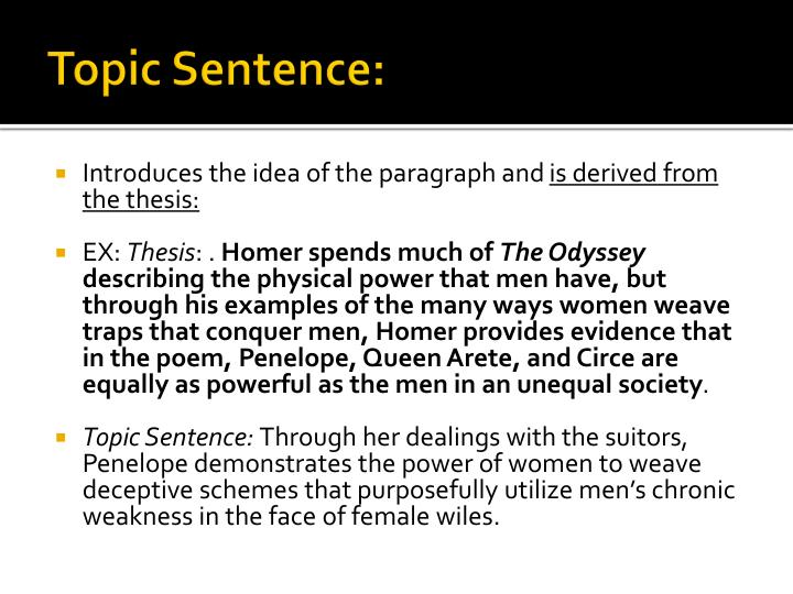 femininity in the odyssey essay