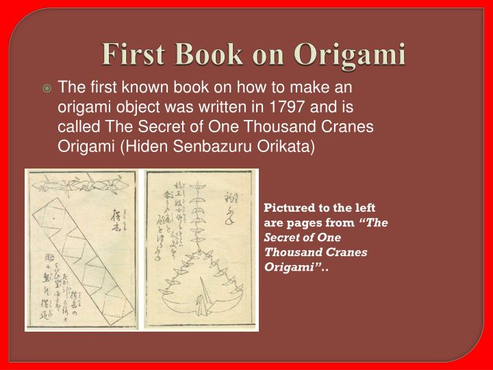 First Book on Origami