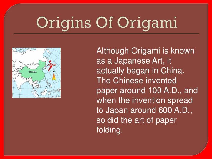 Origins Of Origami