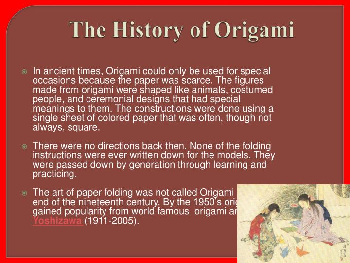 The History of Origami