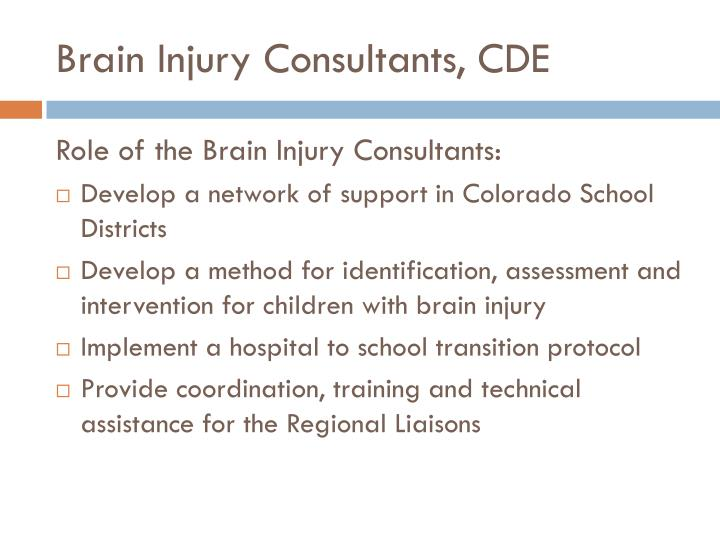 Brain Injury Consultants, CDE