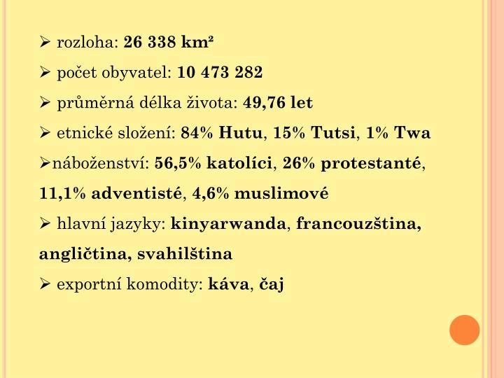 rozloha: