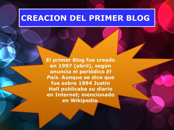 CREACION DEL PRIMER BLOG
