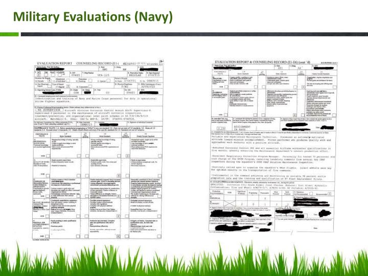 Military Evaluations (Navy)