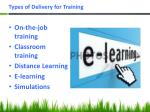 types of delivery for training