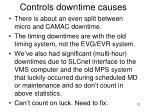 controls downtime causes1