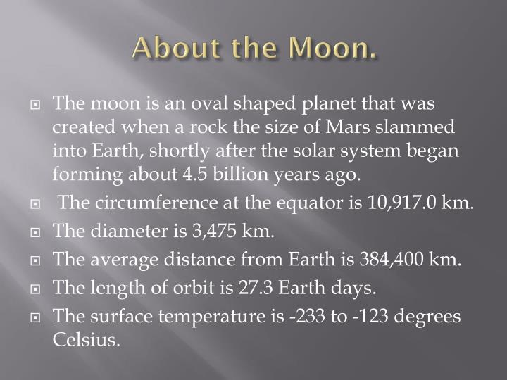 About the moon