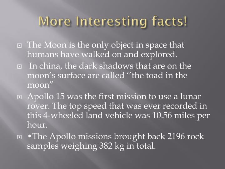 More Interesting facts!
