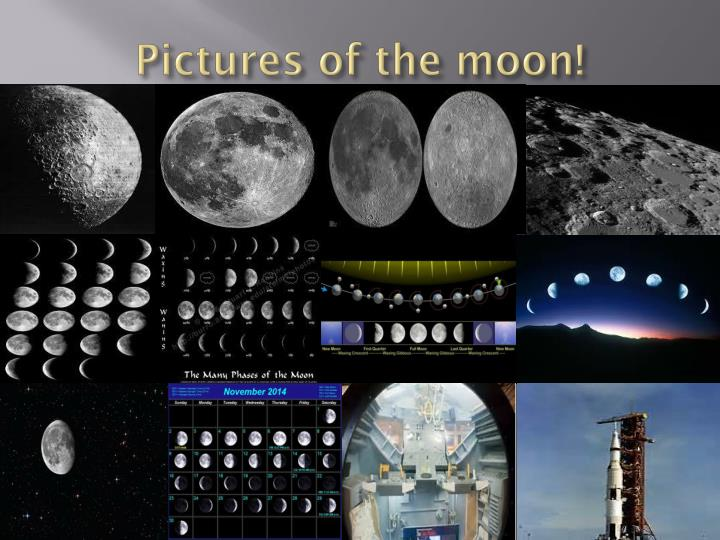 Pictures of the moon!