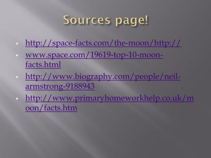 Sources page!