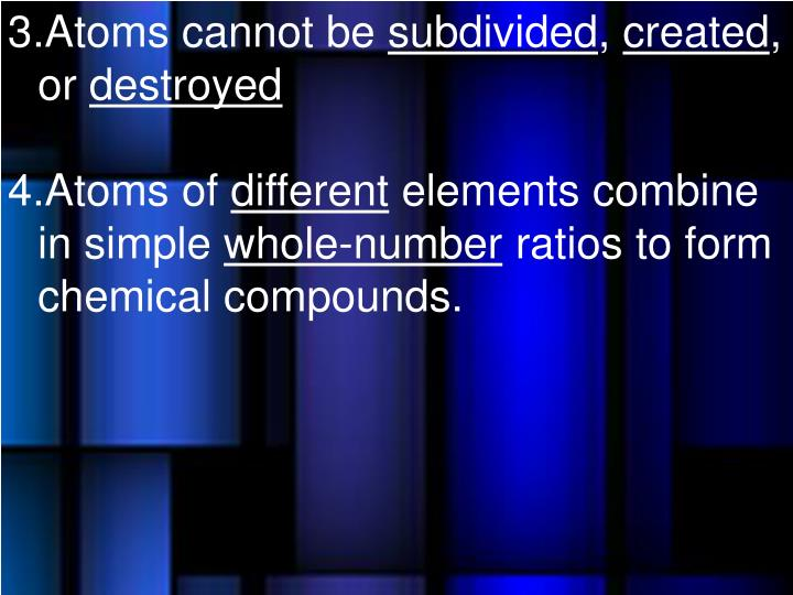 Atoms cannot be