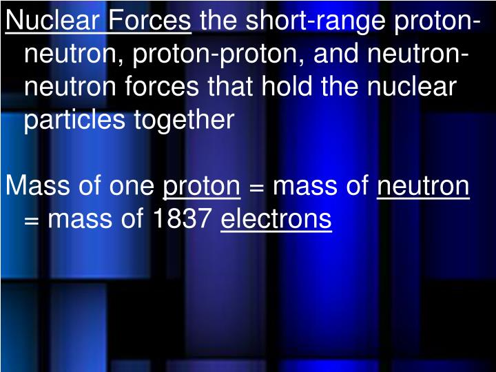 Nuclear Forces