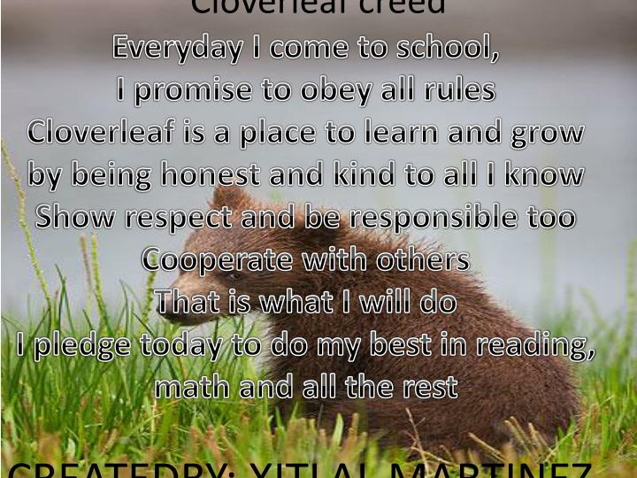 Cloverleaf creed