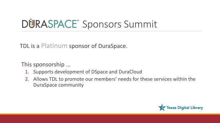 Sponsors Summit