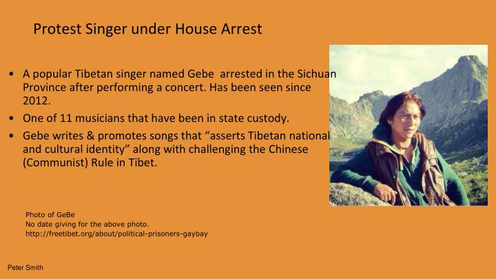 Protest Singer under House Arrest