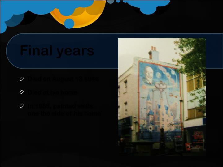 Final years