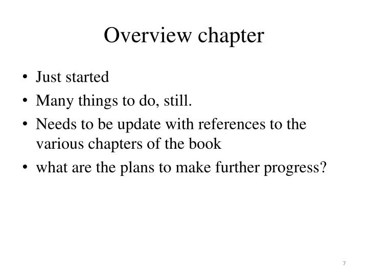 Overview chapter