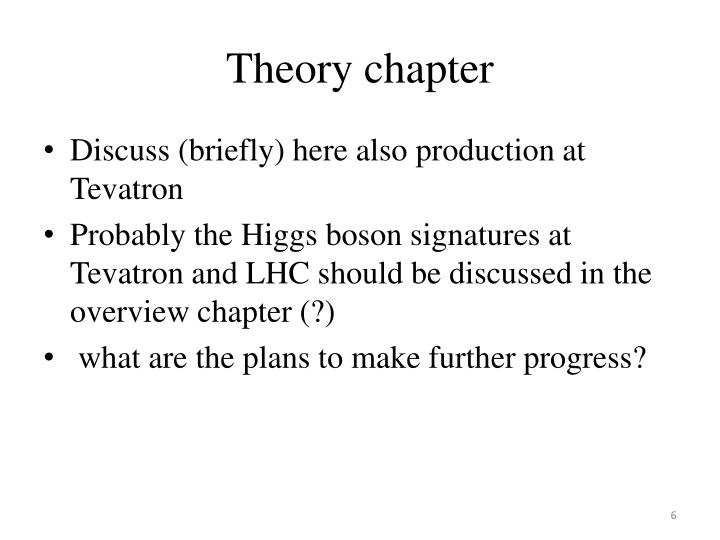 Theory chapter