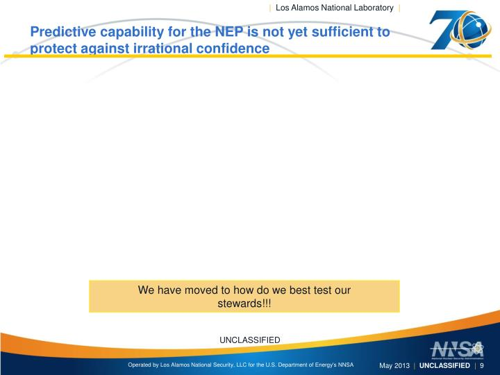 Predictive capability for the NEP is not yet sufficient to protect against irrational confidence