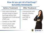 how do you get rid of bed bugs building managers