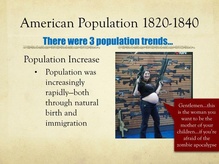 American Population 1820-1840