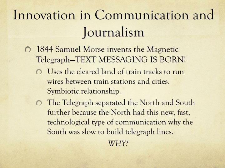 Innovation in Communication and Journalism