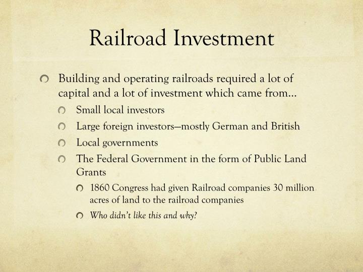Railroad Investment