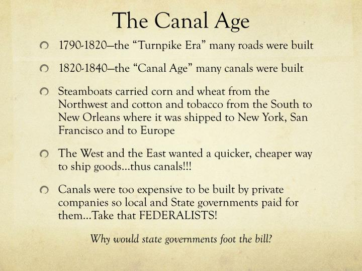 The Canal Age