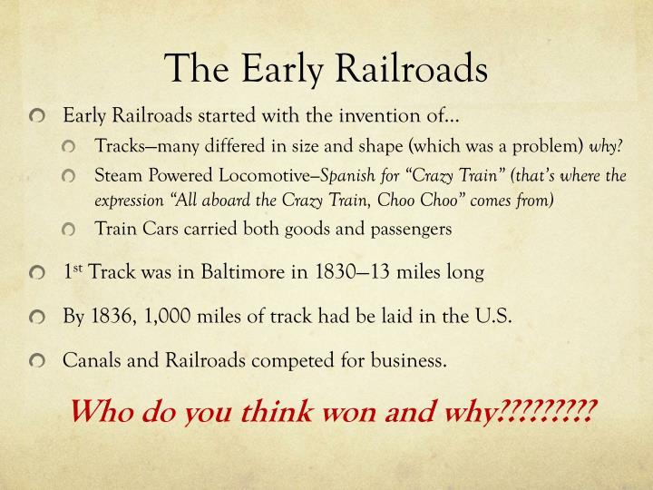 The Early Railroads