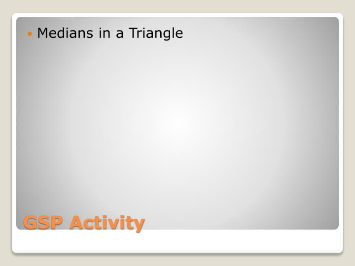 Medians in a Triangle