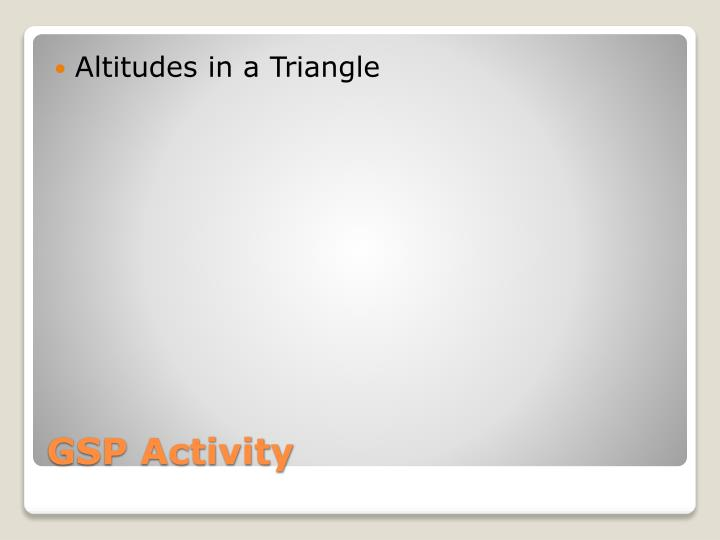 Altitudes in a Triangle