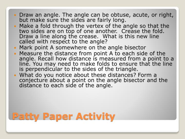 Draw an angle. The angle can be obtuse, acute, or right, but make sure the sides are fairly long.